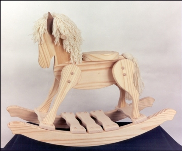 Unfinished Wooden Rocking Horse 1