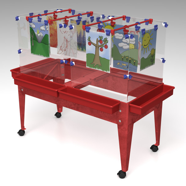 Childbrite Toddler Mobile 6 Station Space Saver Easel - 18""