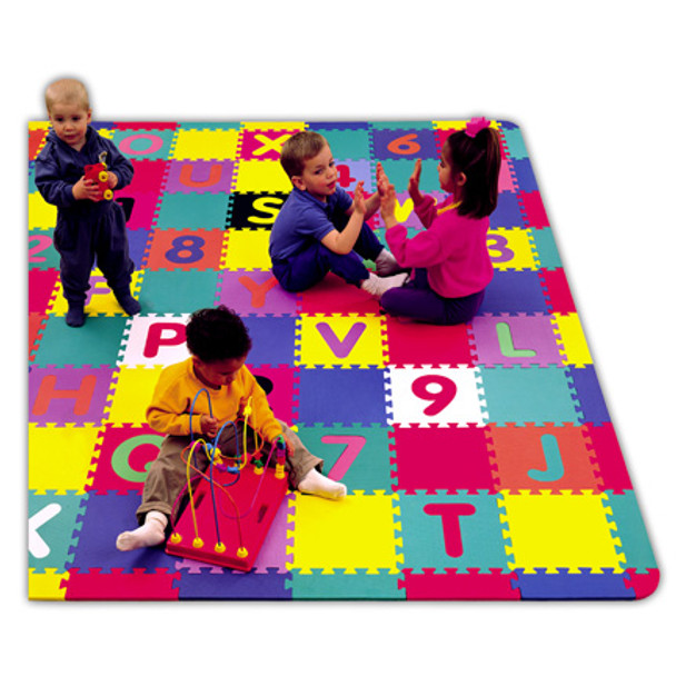 Alpha Numeric Soft & Safe Play Area Foam Floor Set - 6ft 6in x 6ft 6in 1