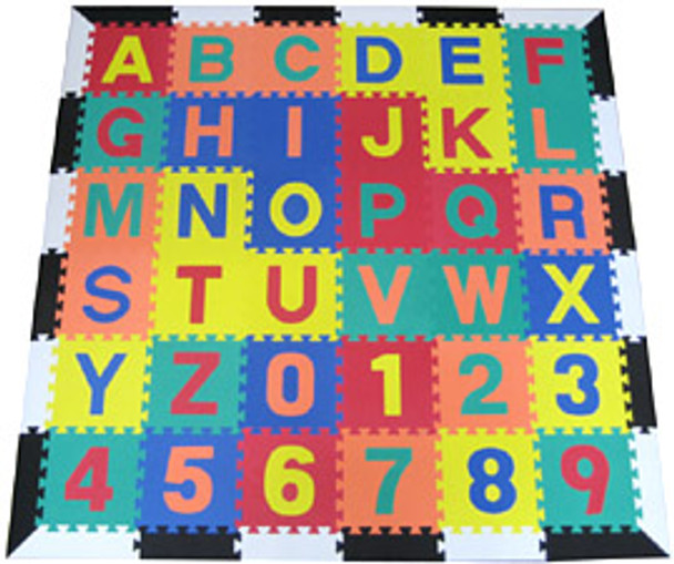 Alphabet Learning Mat White and Black Border 1