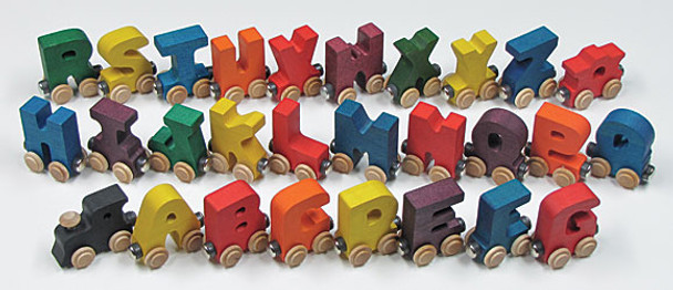 Maple Landmark Colorful Wooden Alphabet Train 2