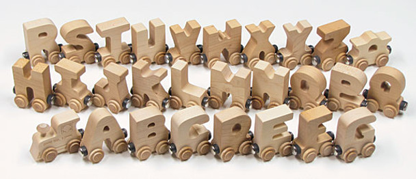 Maple Landmark Natural Finish Wooden Alphabet Train 2