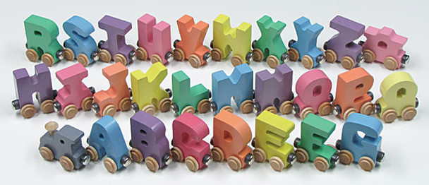 Maple Landmark Colorful Pastel Wooden Alphabet Train 2