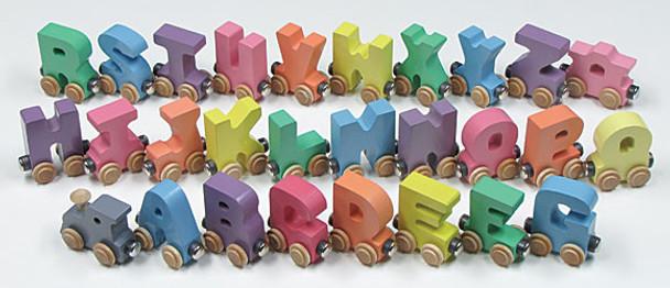 Maple Landmark Colorful Pastel Wooden Alphabet Train 2