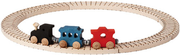 Maple Landmark Basic Wooden Train Set 1