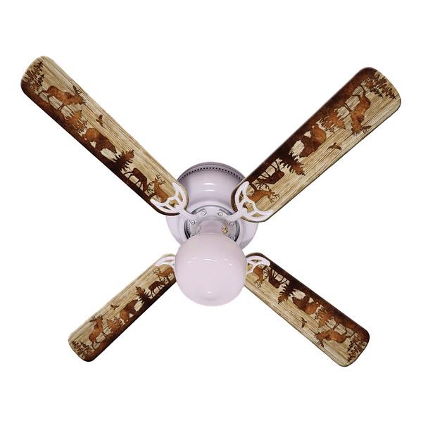"""Bear Moose Deer Ceiling Fan 42"""""""