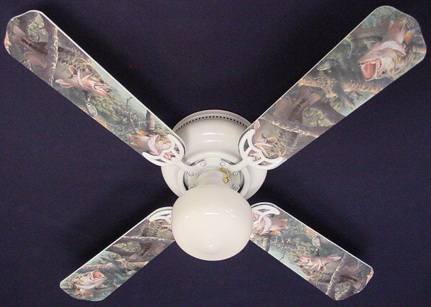"Large Mouth Bass Fish Ceiling Fan 42"" 1"