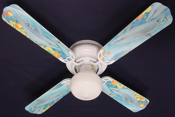 "Playful Dolphins Dolphin Ceiling Fan 42"" 1"