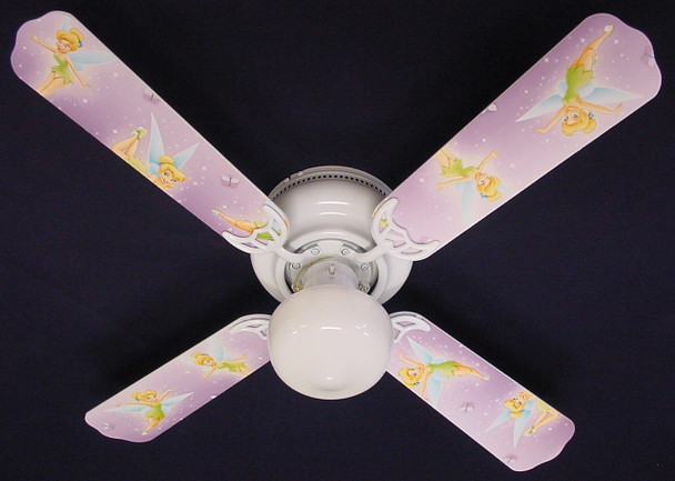 "Tinkerbell Fairy Purple Ceiling Fan 42"" 1"