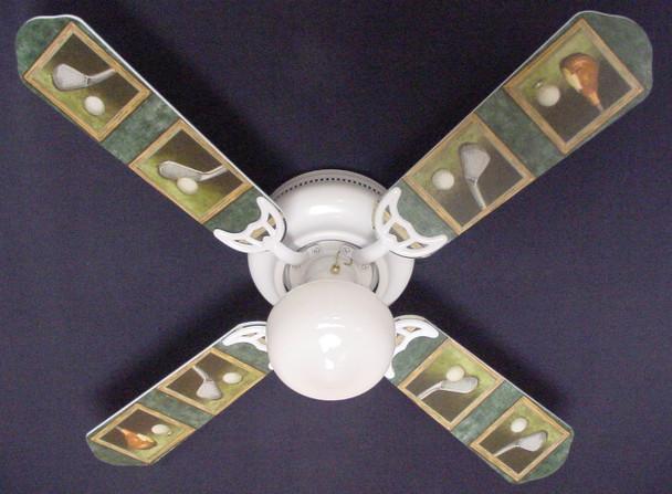 """Golf Clubs Golfers Golfing Ceiling Fan 42"""" 1"""