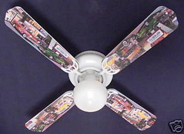 "Hot Rod Cars Burger Diner Ceiling Fan 42"" 1"
