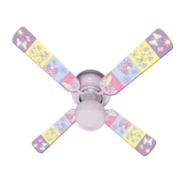 """Baby Nursery Happy Wings Ceiling Fan 42"""" 1"""