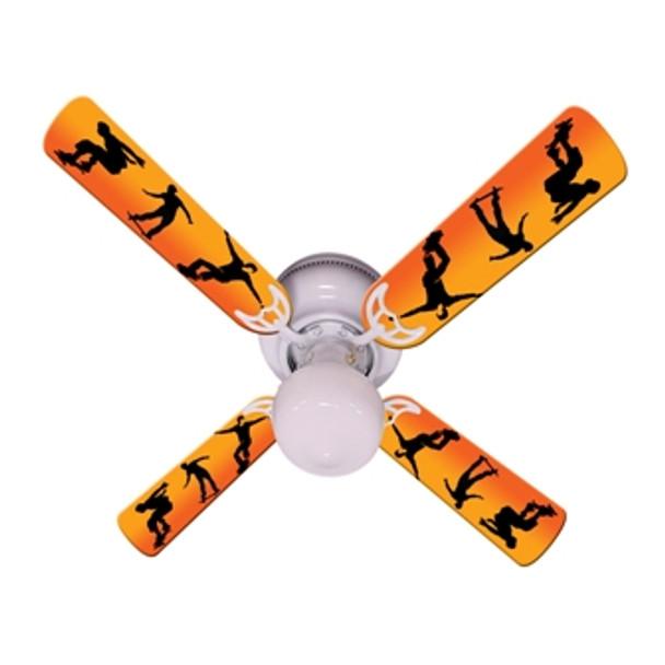 "Kids Radical Skateboards Ceiling Fan 42"" 1"