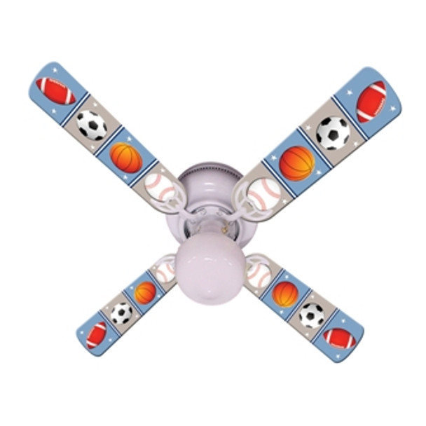 """Kids Play Ball Ceiling Fan 42"""" 1"""