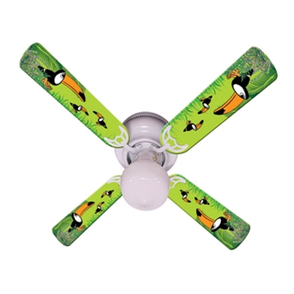 "Kids Toucan Clan Ceiling Fan 42"" 1"