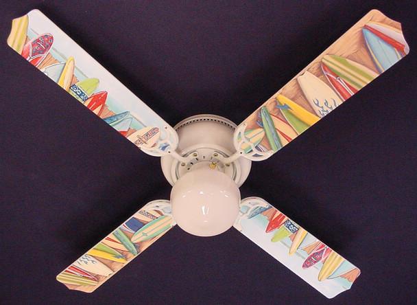 """Hawaiian Surfboards Ceiling Fan 42"""" 1"""