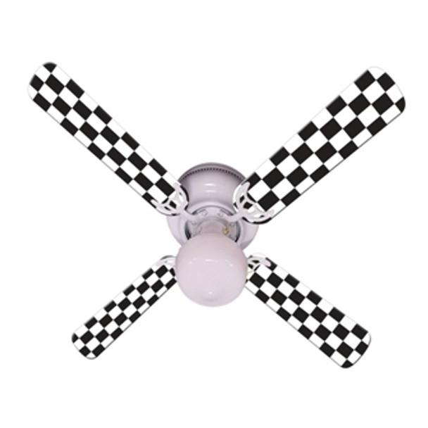 "Checkered Flag Ceiling Fan 42"""
