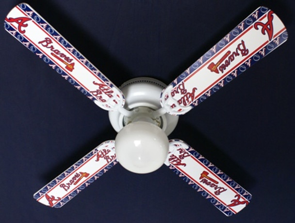 "MLB Atlanta Braves Baseball Ceiling Fan 42"" 1"