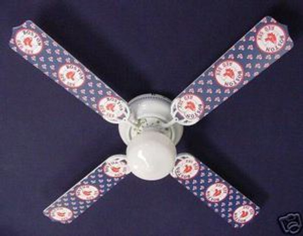 "MLB Boston Red Sox Baseball Ceiling Fan 42"" 1"