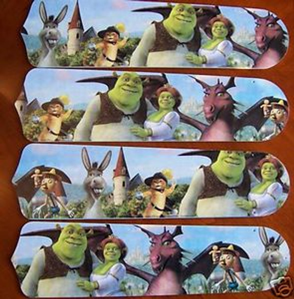 "Shrek 3 Princess Fiona Ceiling Fan 42"" Blades Only 1"