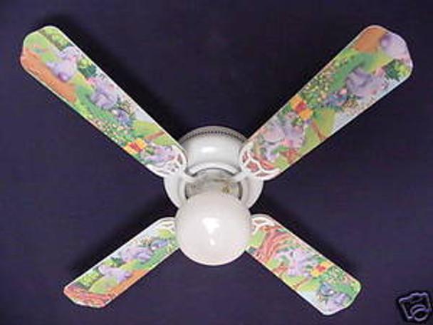 """Winnie Pooh Heffalump Lumpy Eeyore Ceiling Fan 42"""" Blades Only 1"""