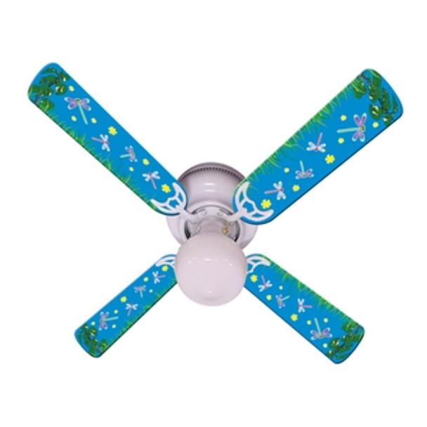 "Kids DragoNFLies & Fireflies Ceiling Fan 42"" Blades Only 1"
