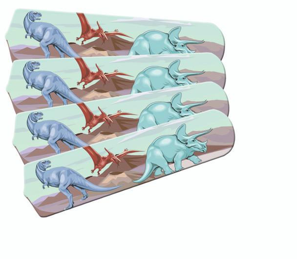 "Kids Dinosaur Dino Land Ceiling Fan 42"" Blades Only 1"