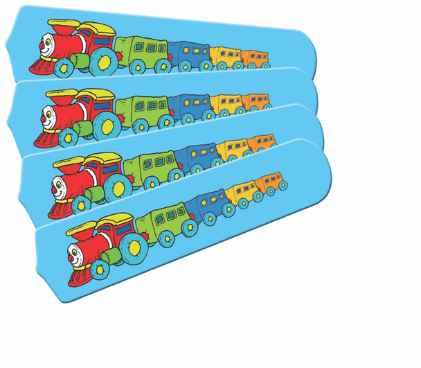 "Kids Train Choo Choo Ceiling Fan 42"" Blades Only 1"