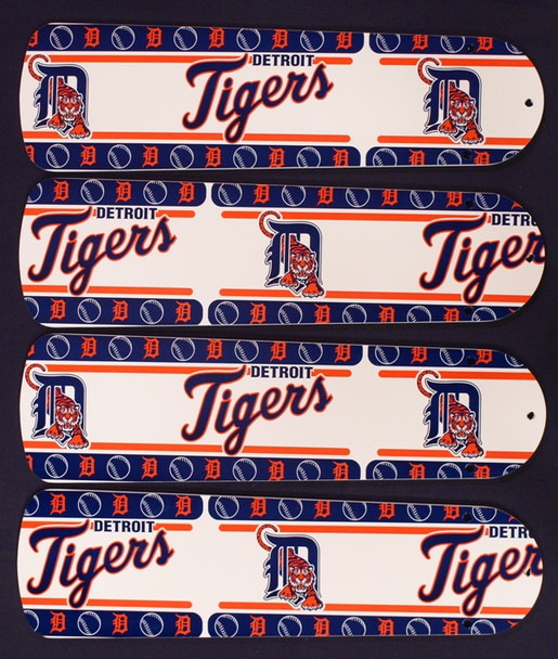 """MLB Detroit Tigers Baseball Ceiling Fan 42"""" Blades Only"""