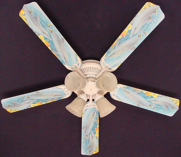 """Playful Dolphins Dolphin Ceiling Fan 52"""" 1"""