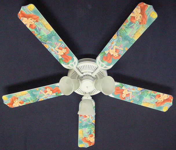 "Disney Little Mermaid Ariel Ceiling Fan 52"" 1"