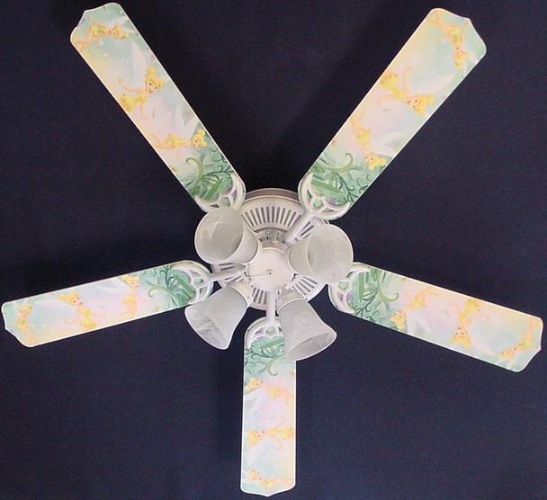 """Tinkerbell Fairy Green Ceiling Fan 52"""" 1"""