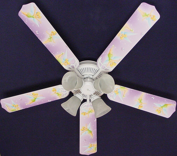 "Tinkerbell Fairy Purple Ceiling Fan 52"" 1"