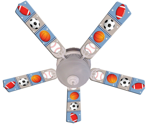 "Kids Play Ball Ceiling Fan 52"" 1"