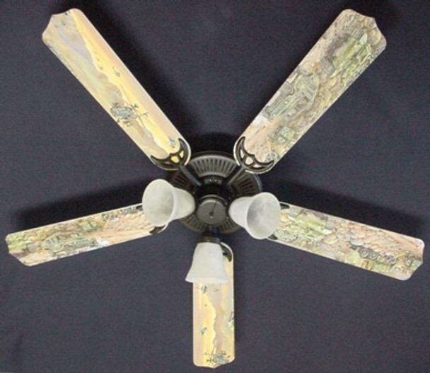 "Army Tanks Military Helicopter Ceiling Fan 52"" 1"