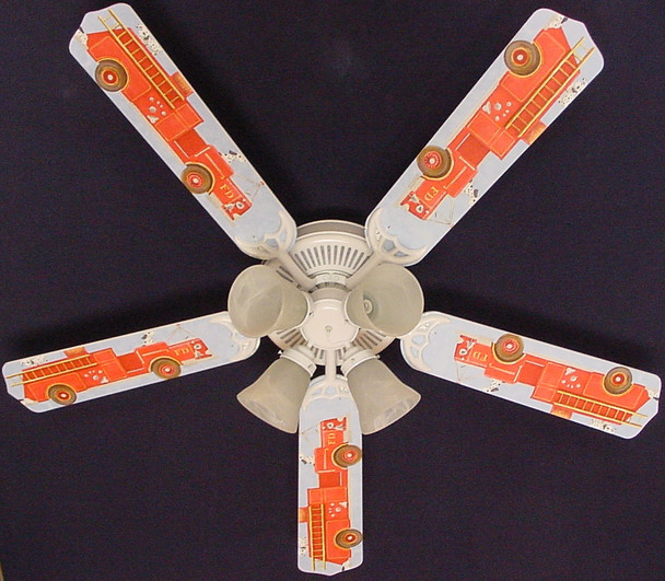 "Dalmations Fire Truck #2 Ceiling Fan 52"" 1"