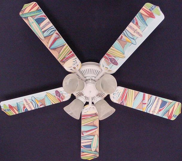 """Hawaiian Surfboards Ceiling Fan 52"""" 1"""