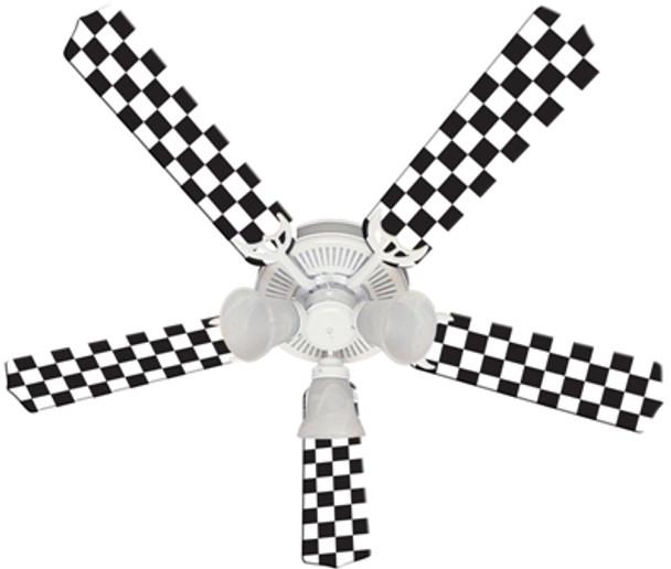 "Nascar Checkered Flag Ceiling Fan 52"""