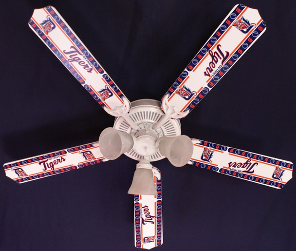 MLB Detroit Tigers Baseball Ceiling Fan 52""
