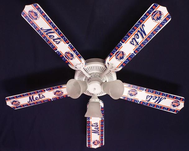 "New York Mets Baseball Ceiling Fan 52"""