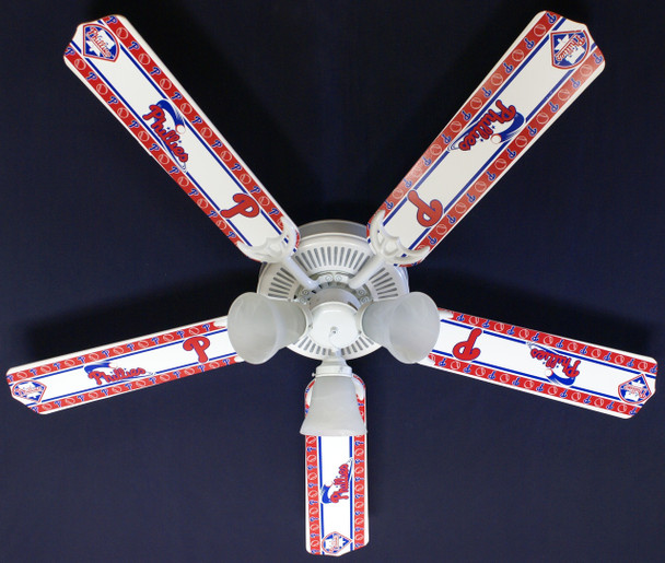 "MLB Philadelphia Phillies Baseball Ceiling Fan 52"" 1"