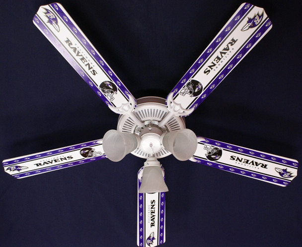 "NFL Baltimore Ravens Football Ceiling Fan 52"" 1"