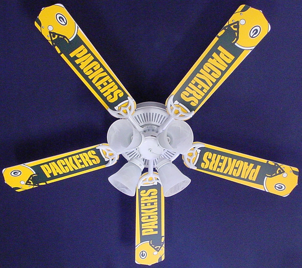 """NFL Green Bay Packers Football Ceiling Fan 52"""""""