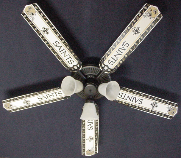 "NFL Orleans Saints Football Ceiling Fan 52"" 1"