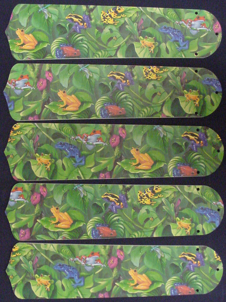 "Rainforest Frogs Frog 52"" Ceiling Fan Blades Only 1"