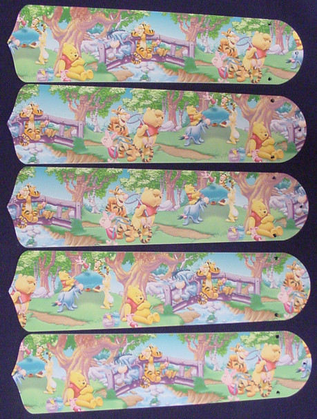 "Winnie Pooh Piglet Eeyore Tigger 52"" Ceiling Fan Blades Only 1"