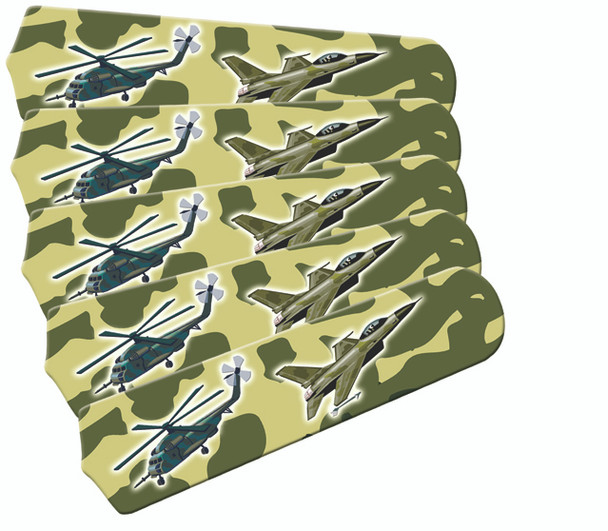 """Freedom Camo Military 52"""" Ceiling Fan Blades Only 1"""
