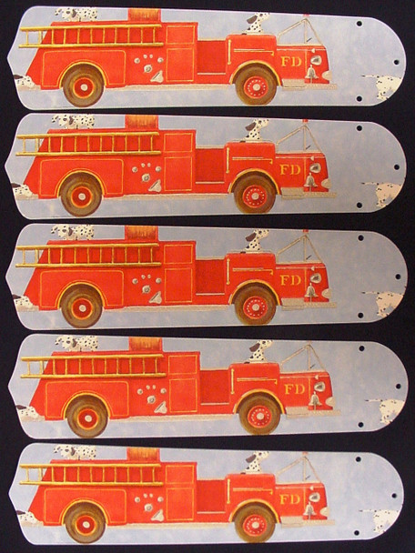 """Dalmations Fire Truck #2 52"""" Ceiling Fan Blades Only 1"""