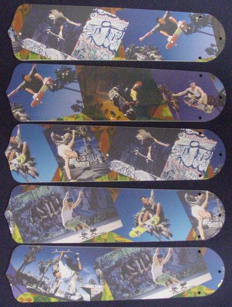 "Radical Skateboards 52"" Ceiling Fan Blades Only 1"