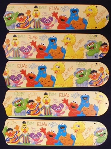 """Sesame Street Elmo Big Bird 52"""" Ceiling Fan Blades"""